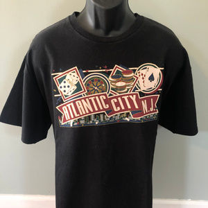 90s Atlantic City Casino Shirt Poker Blackjack XL